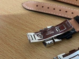 Image of TUDOR Deployment Gents Leather Straps,Brown,Black,18mm/20mm,New