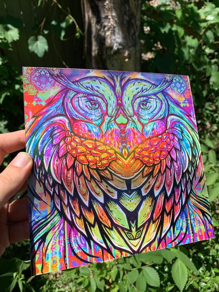 Image of Owl Spirit Lenticular print PRE ORDER
