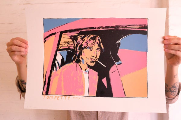 Image of 'Tom Petty Smoking In A Car' Print