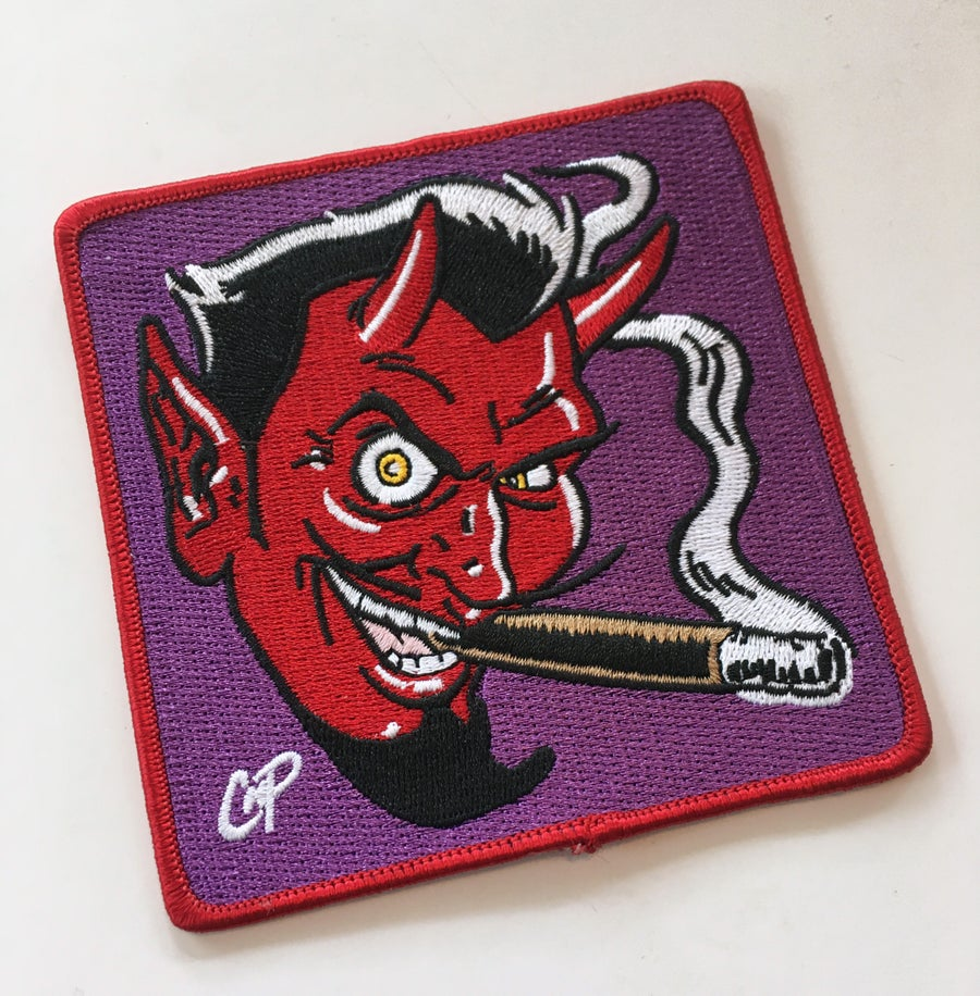Image of SMOKING DEVIL Iron-on Patch