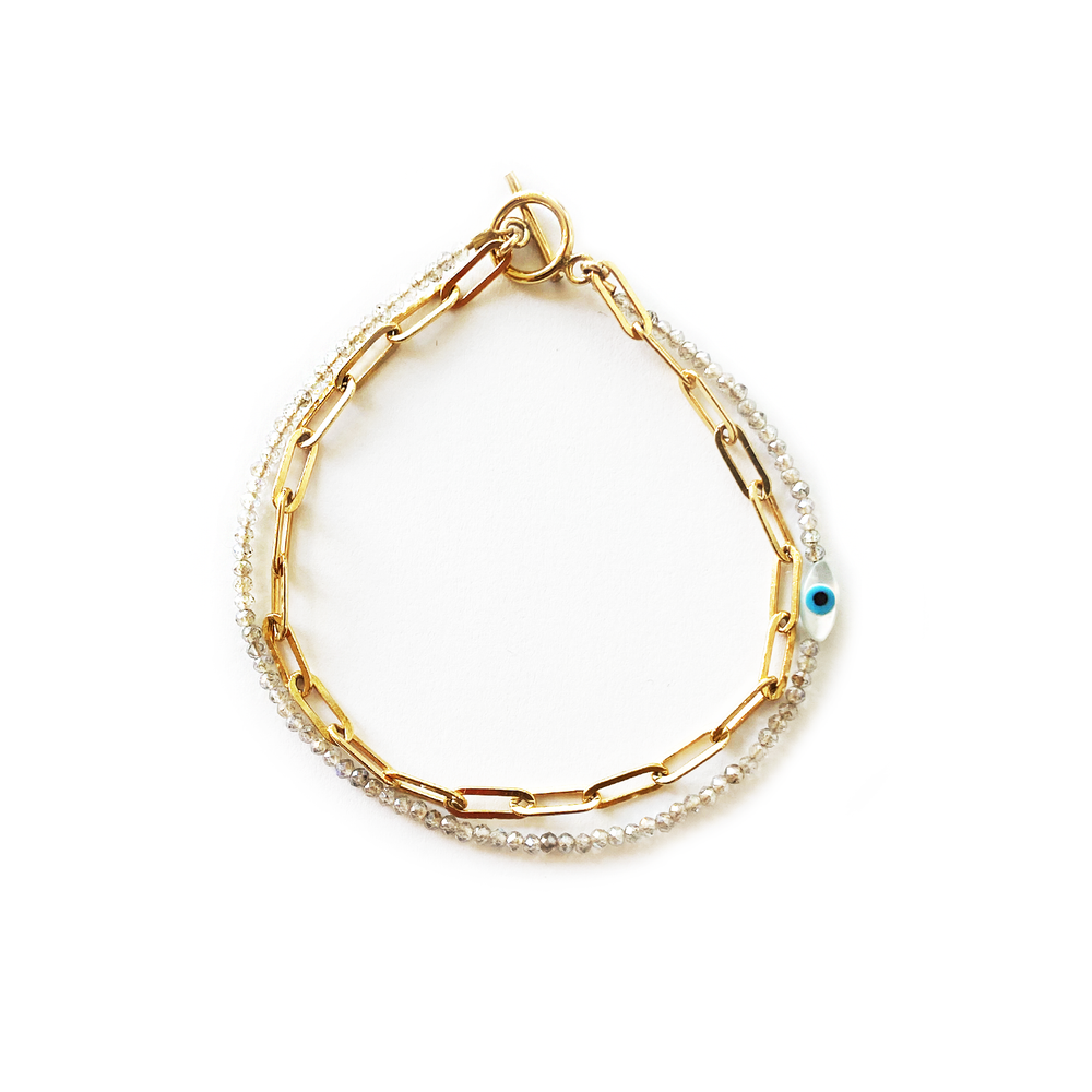 Image of Double Bracelet with Toggle Clasp