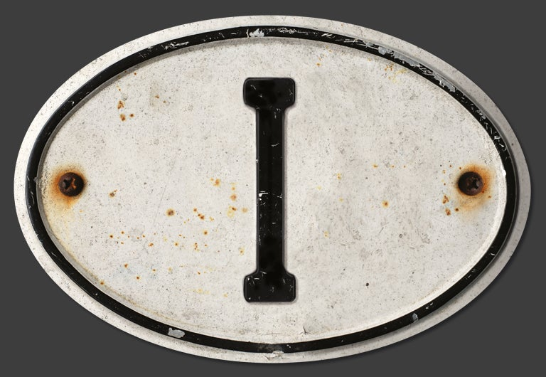 Image of Magnetic Italy 'I' Badge, Standard 180x120mm