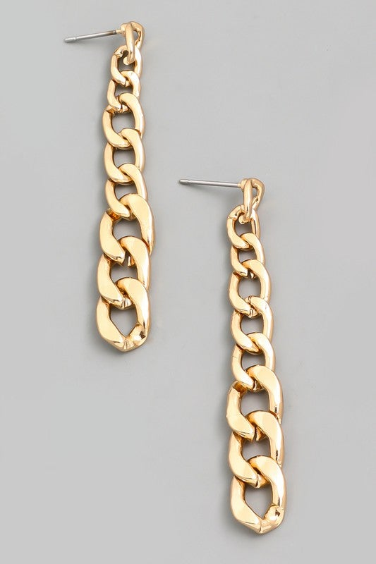 Image of Chain Link Dangle Drop Earrings