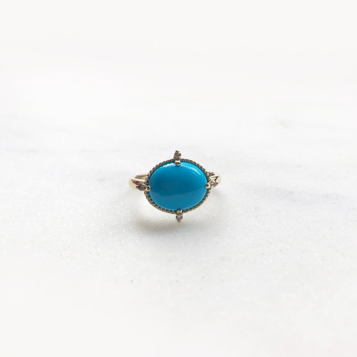 Image of Victorian Turquoise Cabochon Ring