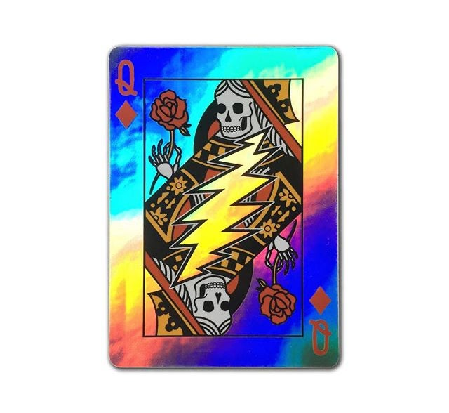 Queen of Diamonds Holographic Sticker (2-pack)