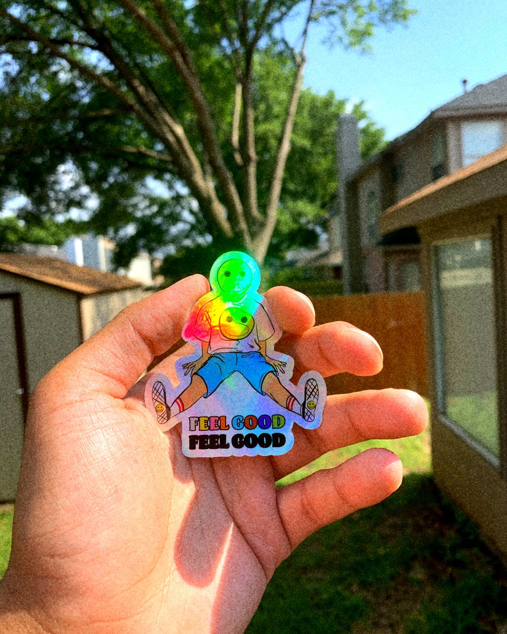 Image of Holographic Feel Good Boy Sticker