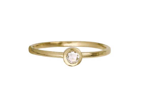 Image of A simple diamond engagement ring. Rose cut. 18k. Catalina
