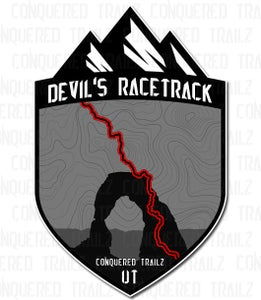 "Image of ""Devil's Racetrack"" Trail Badge"
