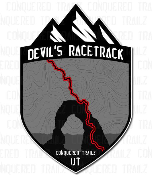 "Image of ""Devil's Racetrack"" Trail Badge"