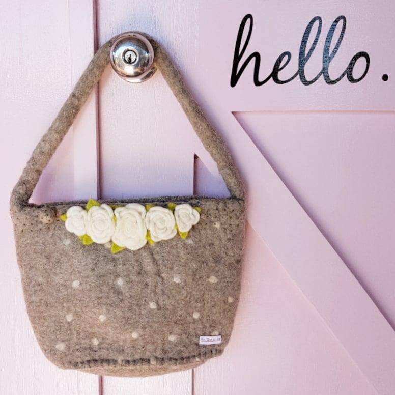 Image of Handmade Felt Bag ~ Four Designs