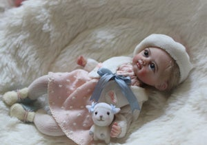 Image of Original OOAK Polymer Clay Doll: Baby Sophia