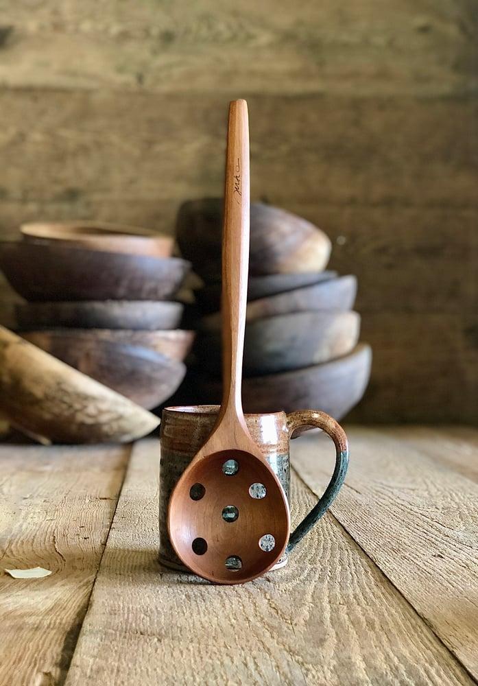 "Image of Straining spoon medium 12 1/2"""