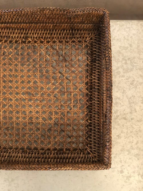 Image of Rattan Tray with Detailing