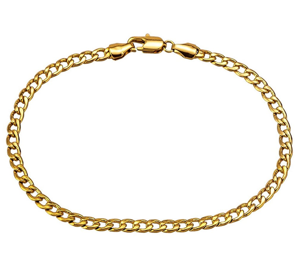 Image of 18k Gold Cuban Link Anklet