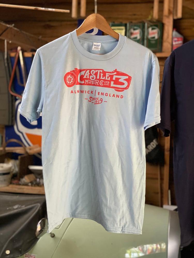 Image of **NEW** Castle Three T shirt - LIGHT BLUE