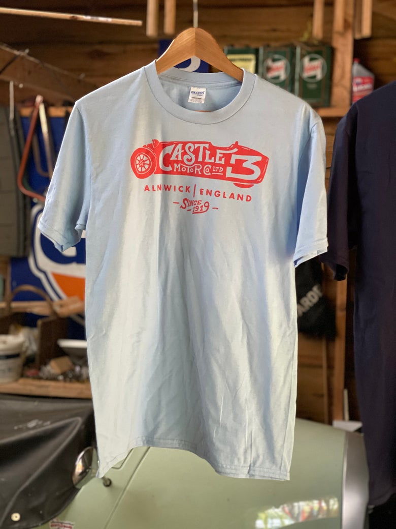 Image of **NEW** Castle Three T shirt - LIGHT BLUE