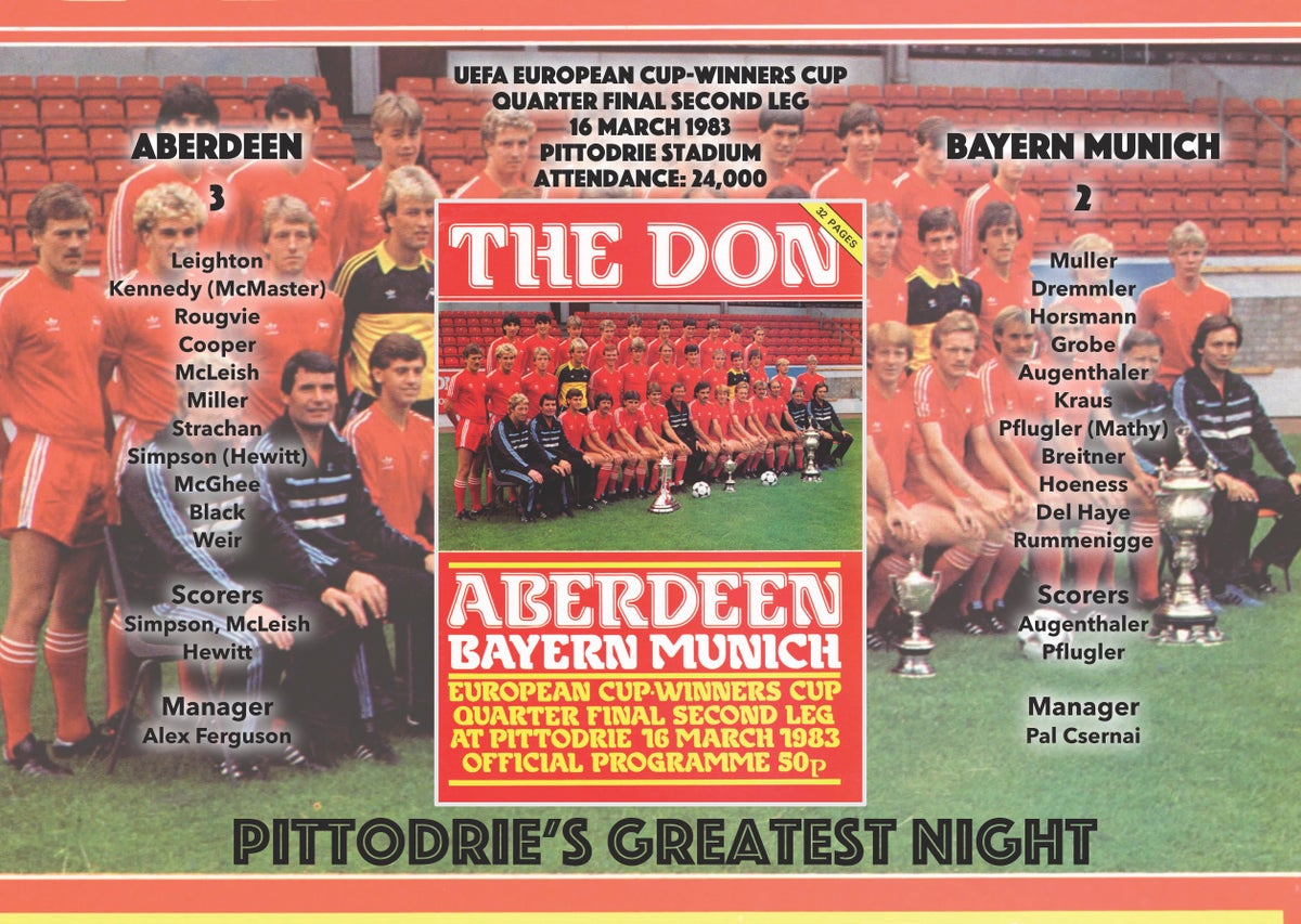 Image of Memory Match poster - Pittodrie's Greatest Night