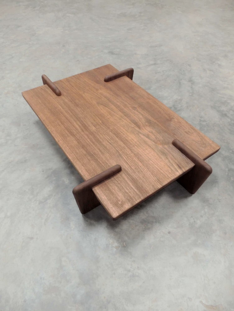 Image of X+L coffee table 01      (natural teak)