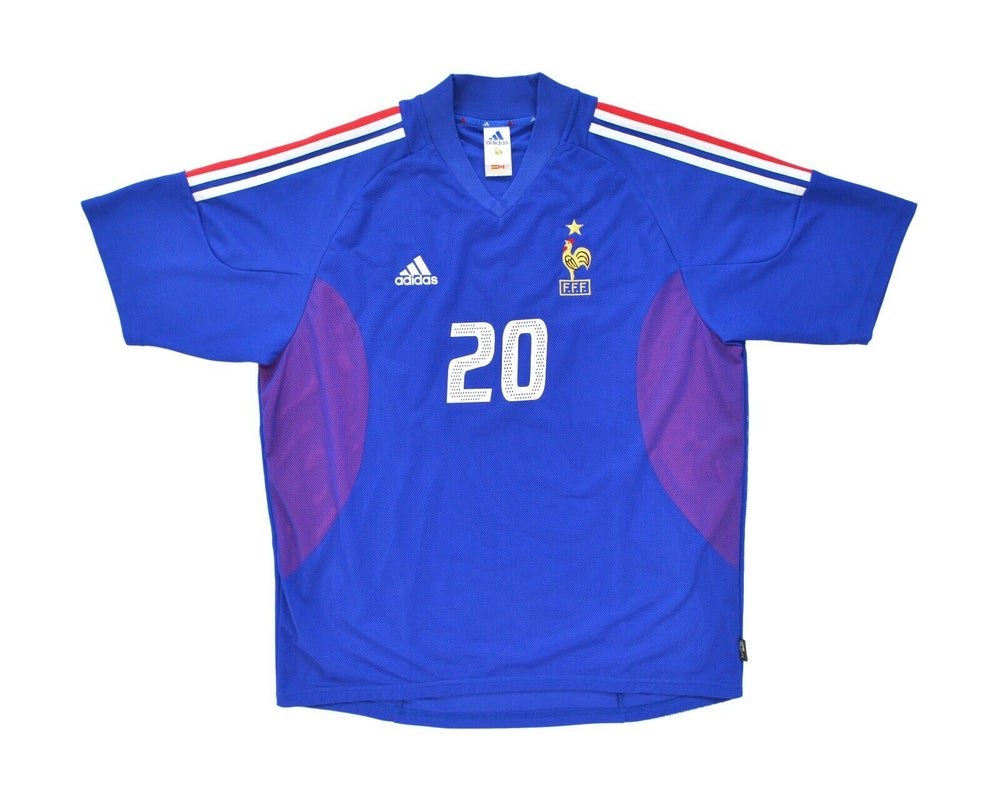 Image of 2002-04 Adidas France Home Shirt 'Trezeguet 20' XL