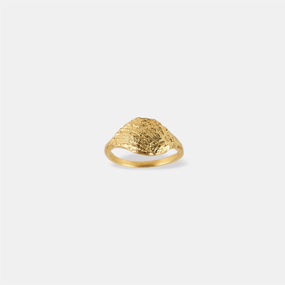Image of SHEEBA RING / 24K GOLD-COATED SILVER