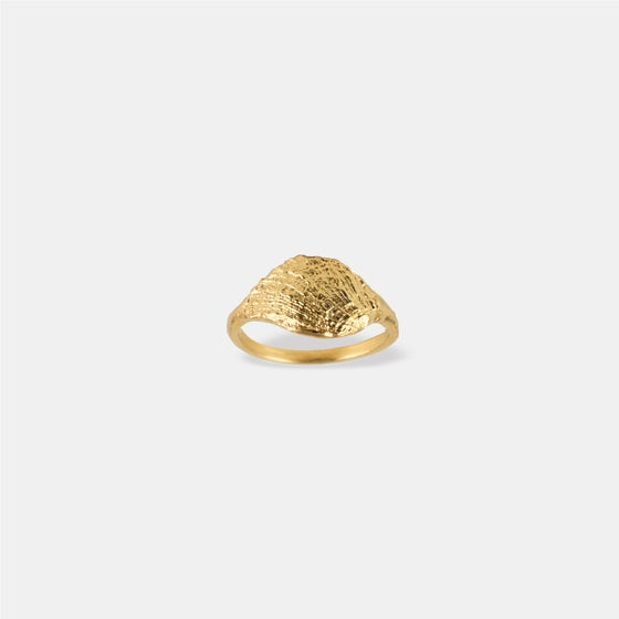 Image of SHEEBA RING / 24K GOLD-COATED SILVER