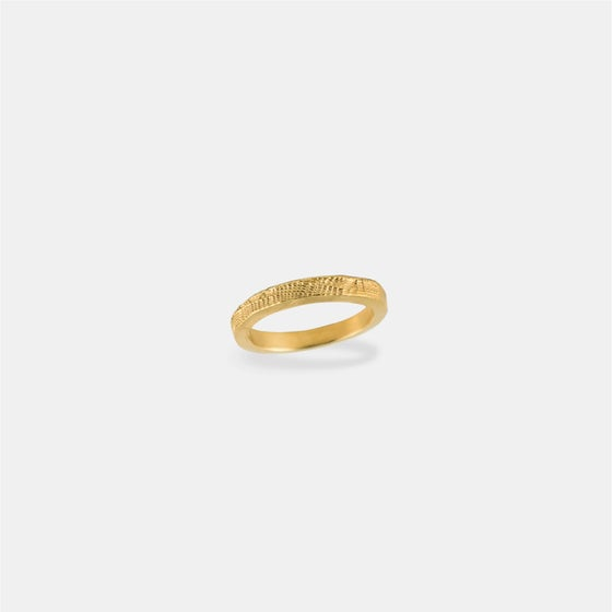 Image of ELENA RING / 24K GOLD-COATED SILVER