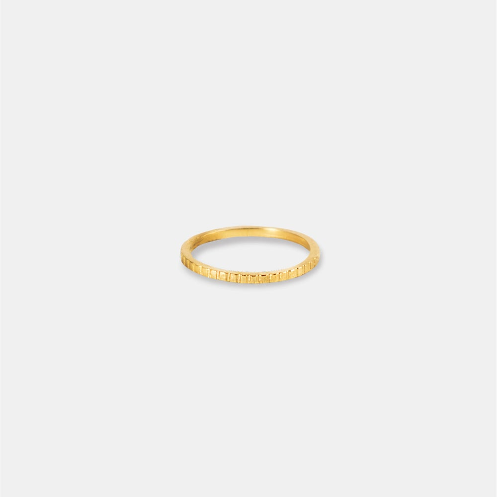 Image of GIA Ring/ 24K GOLD-COATED SILVER