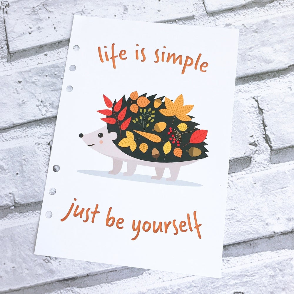 Image of A5 FOOD DIARY ORGANISER INSERT JUST BE YOURSELF
