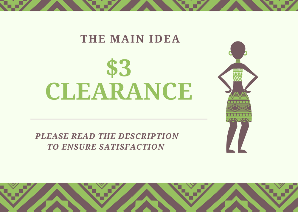 Image of $3 CLEARANCE
