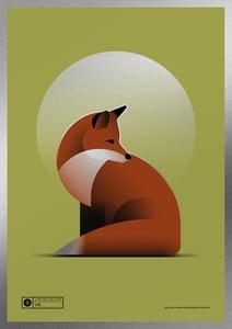 Image of Fox Artprint | Silver Version