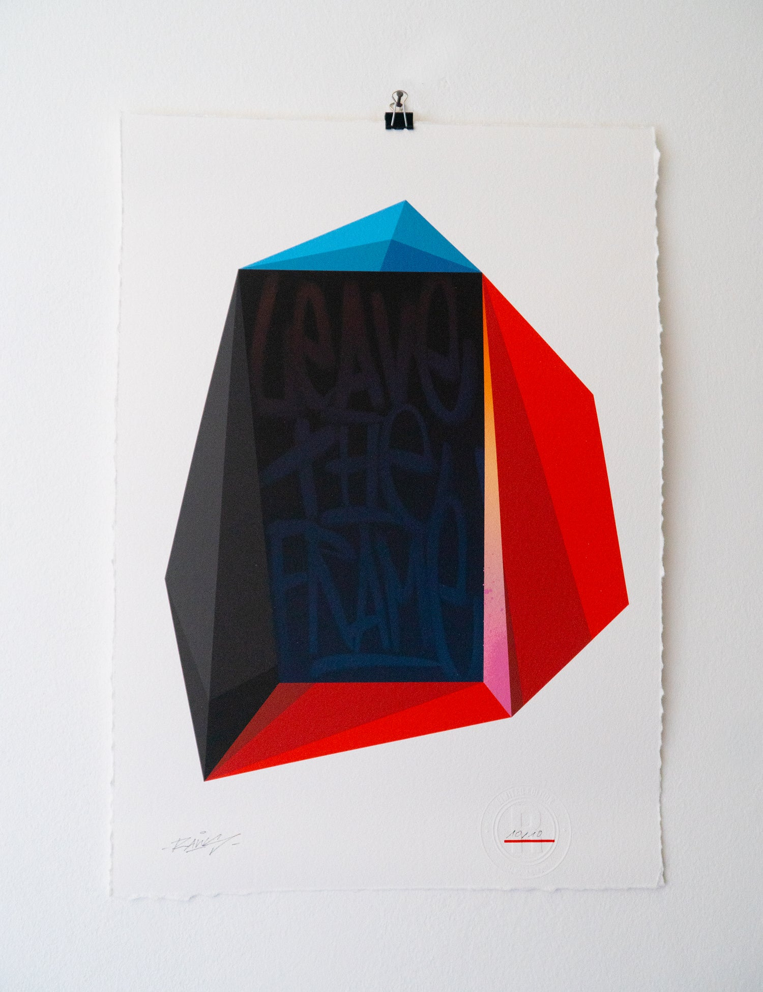 Image of LEAVE THE FRAME | LIMITED PRINT BY RAWS