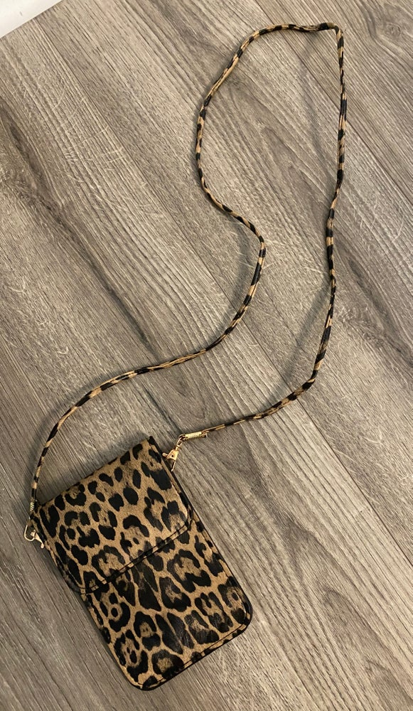 Image of Leopard crossbody bag