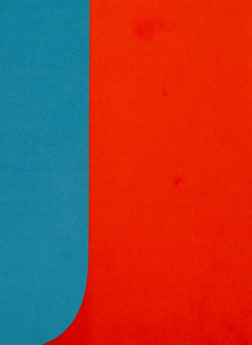 Image of Ellsworth Kelly, Derrière Le Miroir - Kelly No. 149, 1964, blue / red