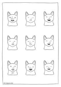 Image of Laughing cats