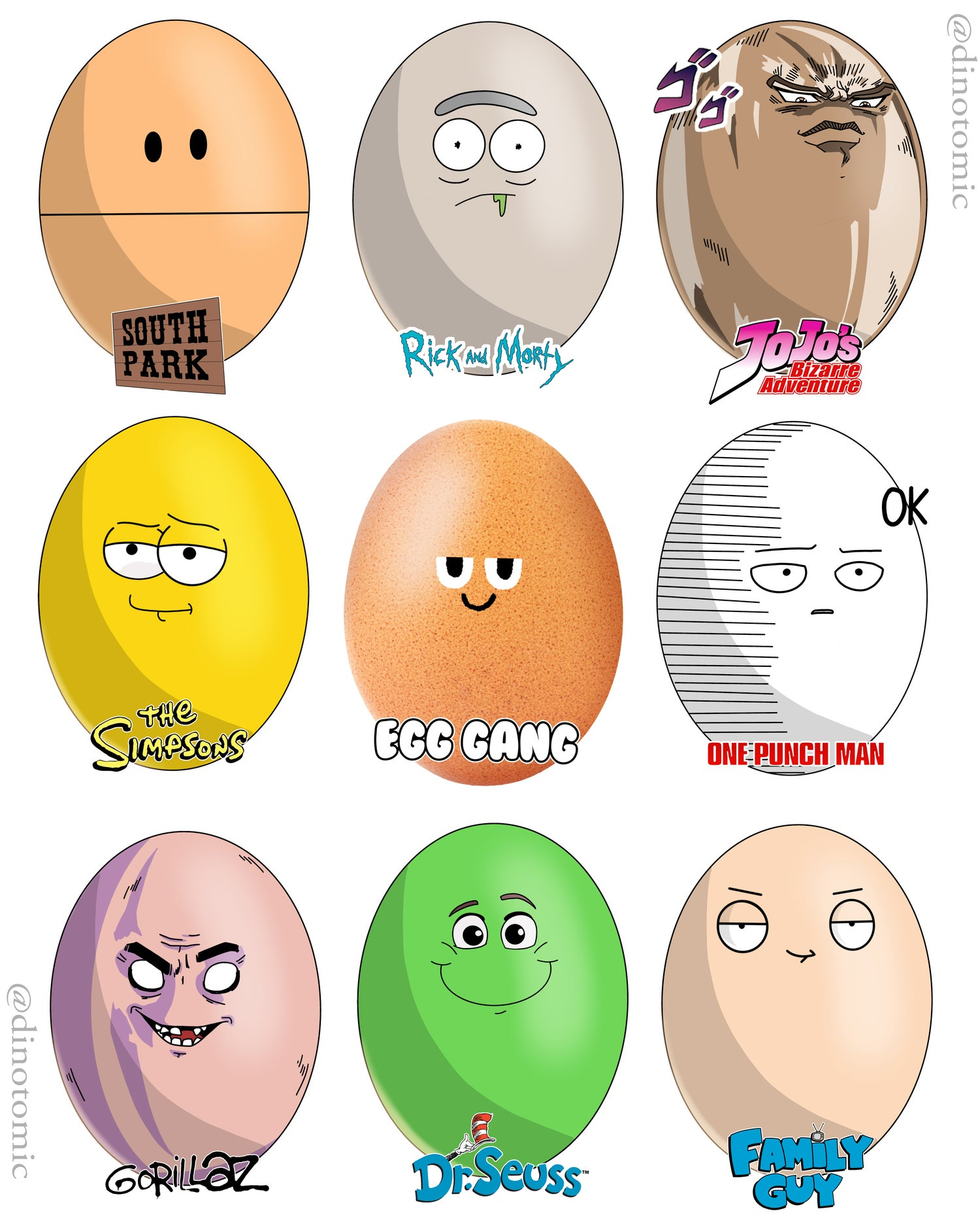 Image of #228 World record Egg 9 styles ( second edition )