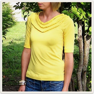 Image of Yellow braided top