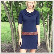 Image of Navy Braided Dress