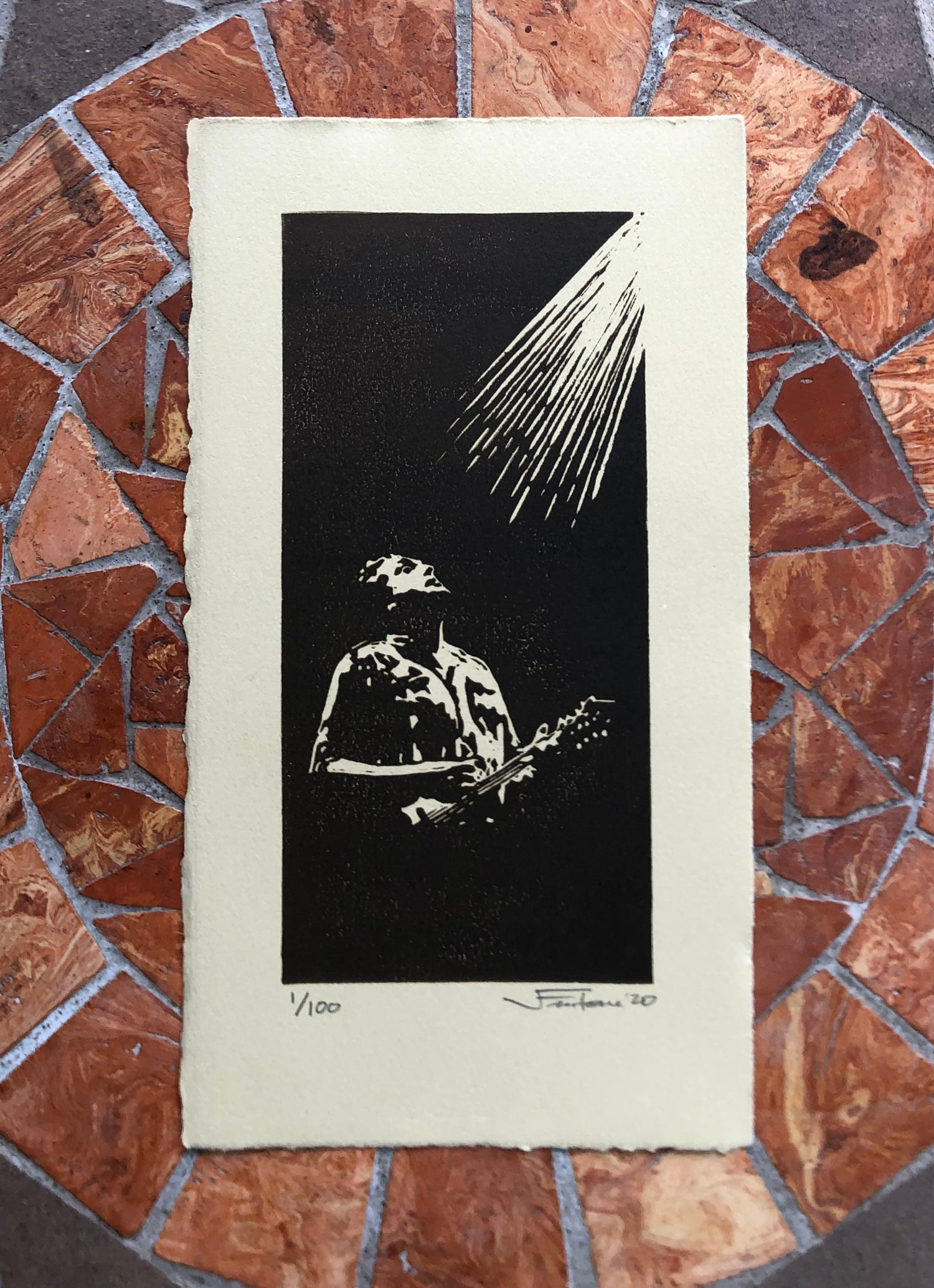 """Image of """"From Darkness to Light"""" mini-print"""