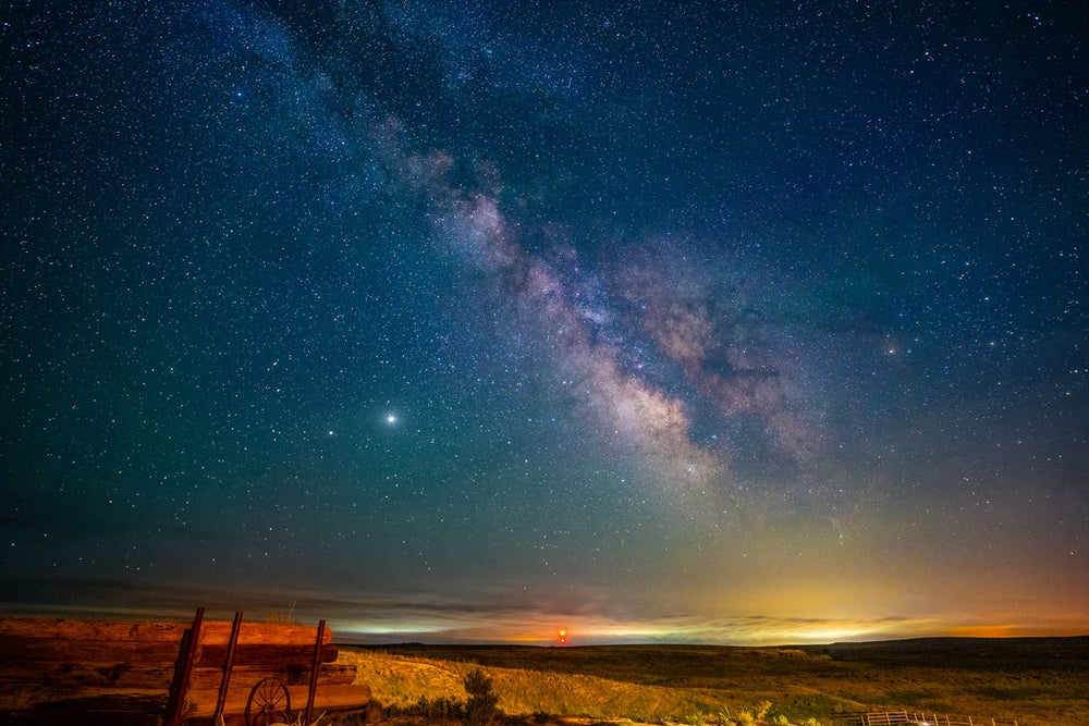 Image of Milky Way with Wagon Wheel
