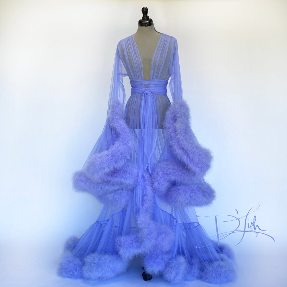 """Image of Periwinkle Deluxe """"Cassandra"""" Dressing Gown"""