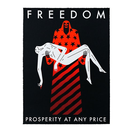 Image of CLEON PETERSON - FREEDOM / PROSPERITY AT ANY PRICE (BLACK) COVID 19