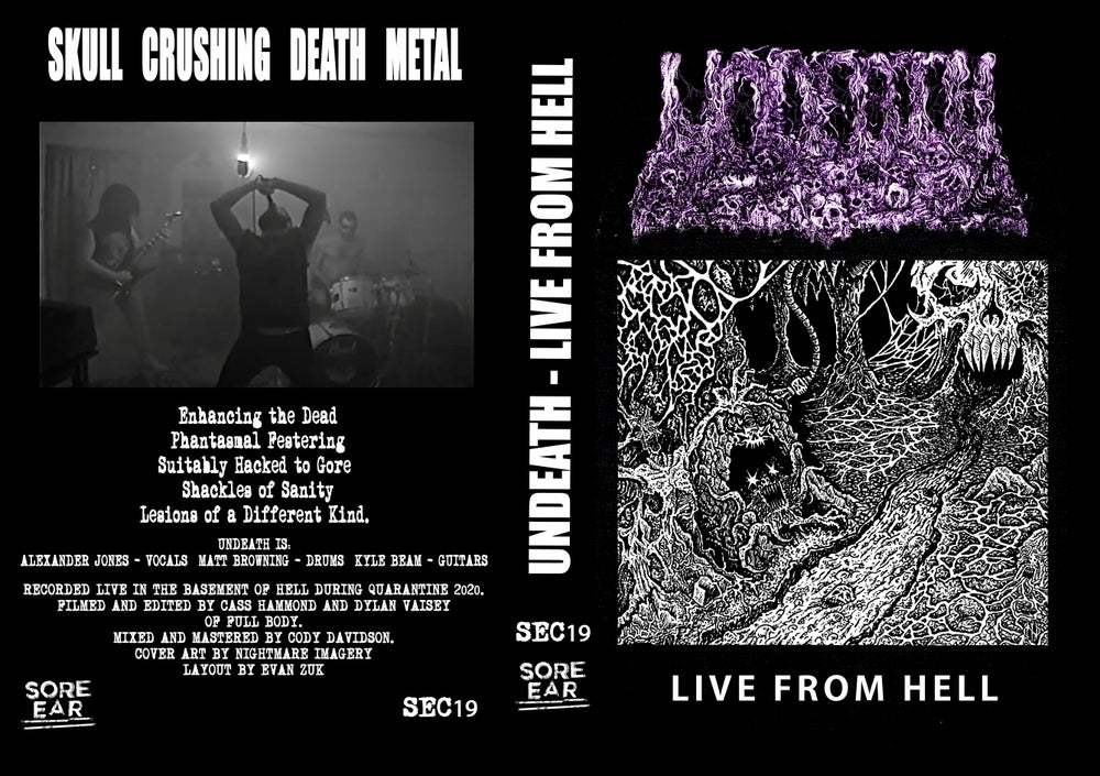 """Image of SEC19: UNDEATH - """"LIVE FROM HELL""""  VHS"""