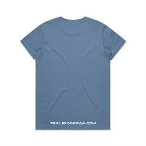 Image of Women's Round Logo Cotton T-Shirt - Carolina Blue