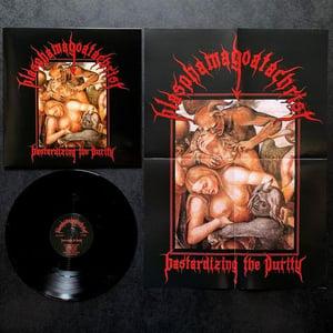Image of BLASPHEMAGOATACHRIST 'bastardizing the purity' lp