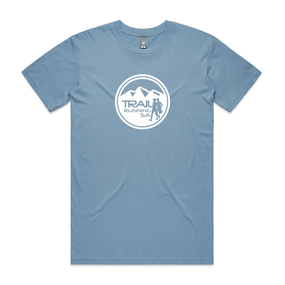 Image of Men's Round Logo Cotton T-Shirt - Carolina Blue