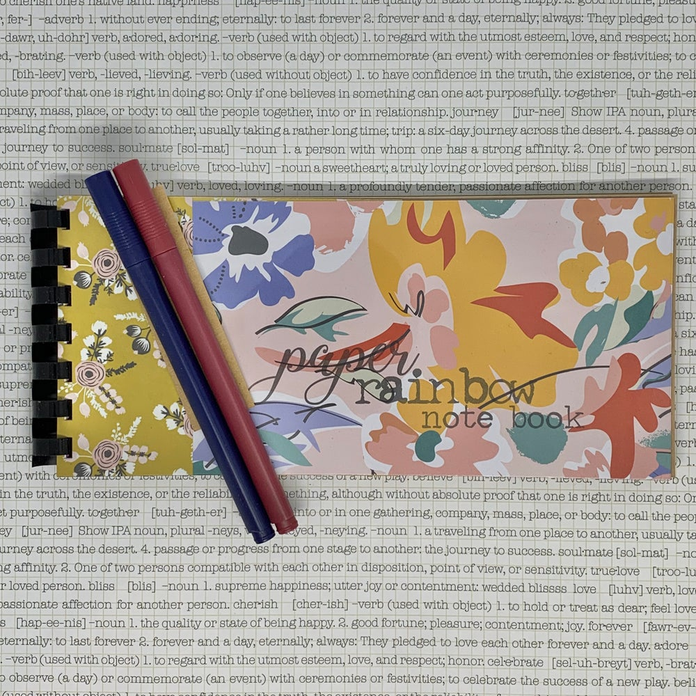 Image of paper rainbow note book