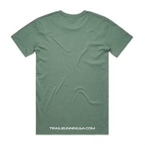 Image of Men's Round Logo Cotton T-Shirt - Sage