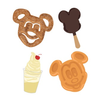 Image of Disney Snacks Sticker 4 Pack