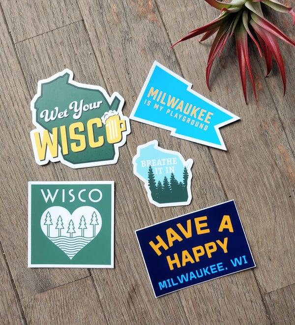 Image of Milwaukee/Wisconsin Love Vinyl Stickers