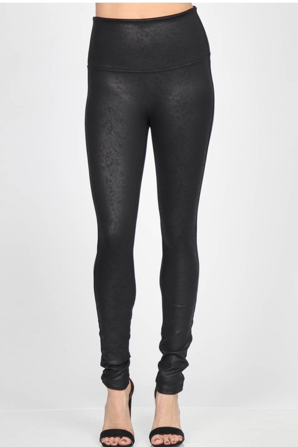 Image of Distressed Leather Leggings - M.Rena  LATE AUG